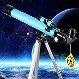 Moutec Kind Teleskop 50mm Aperture Travelscope 600mm AZ Mount - mit Stativ & Finder Scope - Perfekt für Kinder und Anfänger Educational und Geschenk- View Moon and Planet (50600)