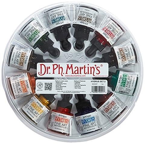 Dr. Ph. Martin's Hydrus Fine Art Watercolor, 1.0 oz, Set