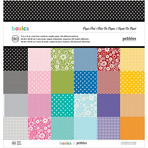 American Crafts Pebbles Papierblock Best of Pebbles 12 by 12-Inch -