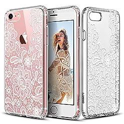 Capa para iPhone 7com mandala Flor de Gelo