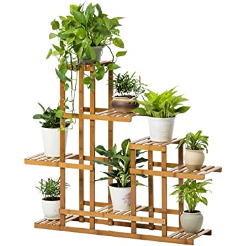 bois etag re plantes porte plante fleur stand bois solide multi couche atterrissage fleur stand. Black Bedroom Furniture Sets. Home Design Ideas