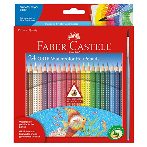Faber and Castell 24 Count Grip Watercolor EcoPencils