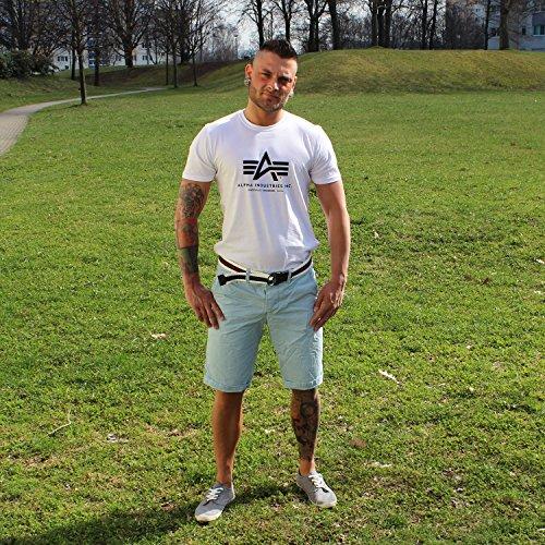 Jet Lag Herren Chino Shorts 17-146 mit Gürtel in 7 Farben Baby Blue