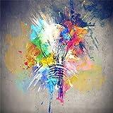 Mbwlkj 3D Tapete Handbemalte Graffiti Aquarell Glühbirne 3D Bilder Schlafzimmer Tv-Wand In Der Wohnzimmer- Tapete-200cmx140cm
