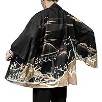 Aden Uomo Haori Giacca Cloak Giapponesi Capispalla Cardigan Kimono Retro Stampato Hippie Cappotto