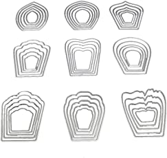 SUPVOX Cutting Dies Metal Stencil Template Mould for Album Scrapbooking Paper Card DIY Art Craft Decor (Nine Flowers)