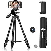 Trépied Smartphone, Trépied Portable 44-135cm Aluminium de Téléphone/Caméra avec Télécommande Bluetooth et Support de…