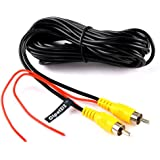 RCA Video Cable, Car Reverse Rear View Parking Camera Video Cable With Detection Wire (6 Meters)