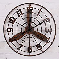 ZHUNSHI Industrial Wind Bar Wand Retro Wanduhr Wand Deko Ideen Startseite  Wohnzimmer Innenausbau Die Uhr Coffee