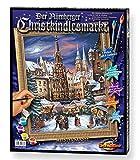 Noris Spiele Schipper 609130336 - Malen nach Zahlen - Der Nürnberger Christkindelsmarkt, 40x50 cm