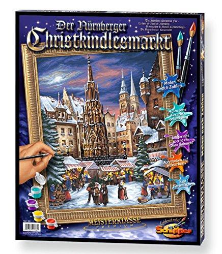 Schipper 609130336 - Malen nach Zahlen - Der Nürnberger Christkindelsmarkt, 40x50 cm