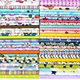 25pcs 30cm x 30cm Tissu de coton Craft carrés patchwork Peluches DIY Couture Scrapbooking à pois Artcraft, Multicoloured