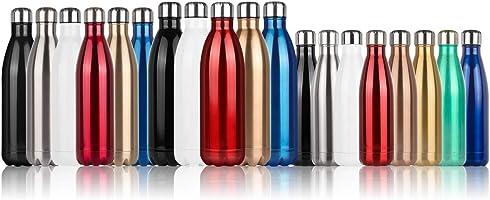 Bottiglia Acqua in Acciaio Inox Bottiglia termica 500/750/1000 ml Borraccia Termica-Senza BPA,Bottiglia di Acqua...