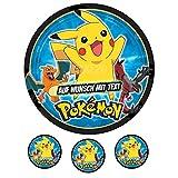 Tortenaufleger Geburtstag Tortenbild Zuckerbild Oblate Motiv: Pokemon 03 (Oblatenpapier)