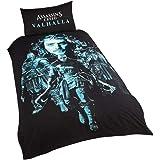 Assassin's Creed Valhalla SP1-ASS-VAL-12 - Juego de Funda de edredón y Funda de Almohada para Cama Individual, Reversible, Co