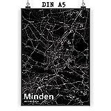 Mr. & Mrs. Panda Poster DIN A5 Stadt Minden Stadt Black -