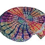 Tefamore Round Hippie Tapestry BeachTowel Yoga Mat