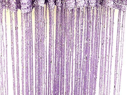 Lilas Glitter Cordes Rideaux