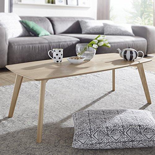 FineBuy table basse en MDF avec une table basse en placage de chêne | Table basse, style campagnard | Table design en bois Table de salon scandinave | Table en chêne massif Salon Meubles SCANIO