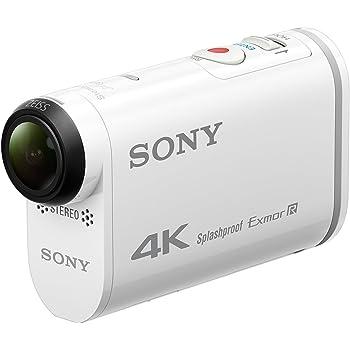 Sony FDR-X1000V Action Camera 4K con Custodia Impermeabile, Sensore CMOS Exmor R da 8,8 Megapixel, Obiettivo Zeiss Tessar, Wi-Fi, NFC, GPS, Bianco