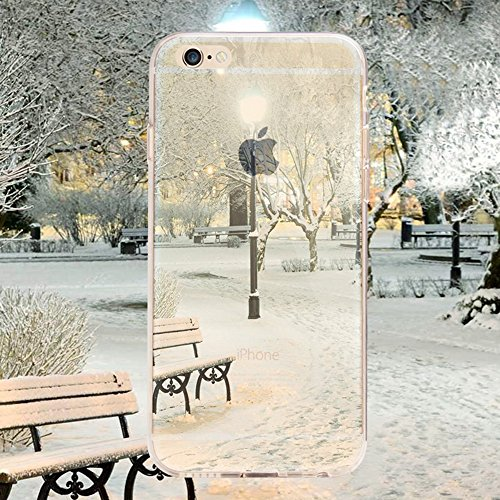 iPhone 6 Case , iPhone 6S Custodia (4.7),Ultra Slim Thin Crystal TPU Paesaggio Morbido Bumper Case + Stylus Screen Touch Pen – Sky model 5