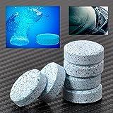 Ocamo 4 Cajas-Limpiador Sólido de Limpiaparabrisas o Limpiacristales del Coche,Pastillas Efervescentes de