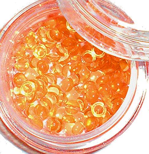1 Boîte de moitié de perles 2 mm Couleur : transparent/orange, # PL 44