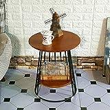ZWD Couchtisch, Restaurant Bar Schlafzimmer Wohnzimmer Hotel Tabelle Kleine Runde Tisch Besprechungstisch Dessert Tisch Beistelltisch Vintage Massivholz Größe 45 * 45 * 50CM Möbel (Farbe : B)