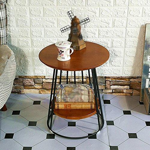 CSQ Couchtisch, Restaurant Bar Schlafzimmer Wohnzimmer Hotel Tabelle Kleine Runde Tisch Besprechungstisch Dessert Tisch Beistelltisch Vintage Massivholz Größe 45 * 45 * 50CM Kaffetisch (Farbe : B) -