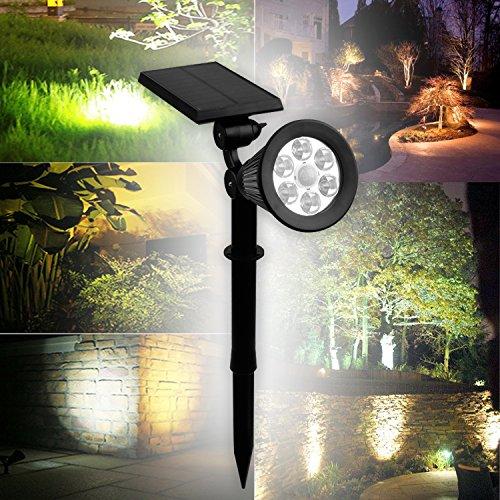 LED Solar Strahler Solarleuchte Beleuchtung Spotlight Warmweiß 3th Version Superhelle (2st.Warmweiß m.Bewegungsmelder)