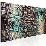 murando Bilder Mandala 120x40 cm - Vlies Leinwandbild - 1 Teilig - Kunstdruck - modern - Wandbilder XXL - Wanddekoration - Design - Wand Bild - Orient Zen f-A-0593-b-b