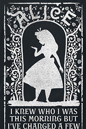 Alice im Wunderland Knew Who I was Girl-Shirt Schwarz Schwarz