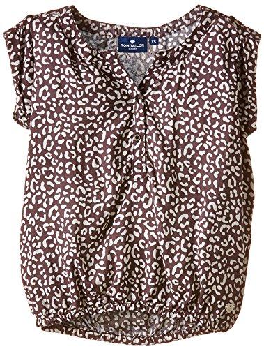 TOM TAILOR Kids - blouse with aop/504, Camicetta per bambine e ragazze, nero (schwarz  (black 2999)), 8 anni (128 cm)