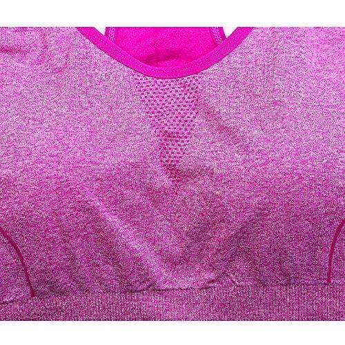 Yalatan Tank Top Women's Quick Drying Vest Fitness Tank Tops Perfect Racerback Bra Top Hot Pink