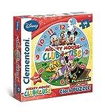 Clementoni 23018.1 - Puzzleuhr Mickey Mouse Club Haus, 96 Teile