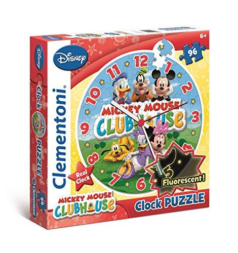 Clementoni 23018.1 - Puzzleuhr Mickey Mouse Club Haus, 96 Teile (Club-car-computer)
