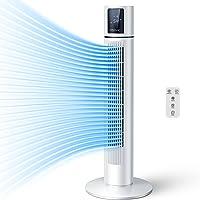 YISSVIC Ventilateur Colonne Oscillant avec télécommande Ventilateur Tour Minuterie 8H Écran Tactile LCD pour Bureau…