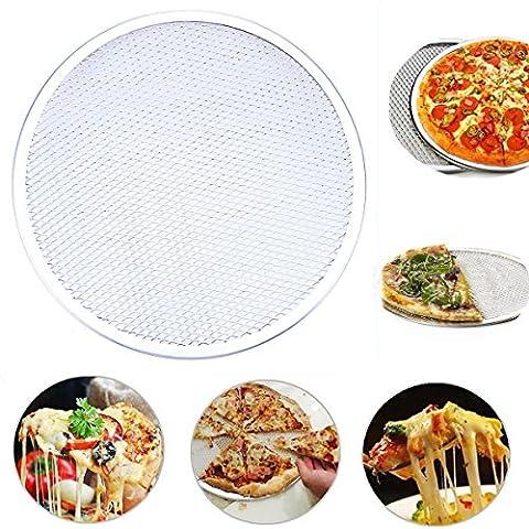 goodchanceuk nahtlos Aluminium Pizza Bildschirm Backblech Metall Net Bakeware ideal für Pizzerien, Restaurants & Home Verwenden 14-Inch