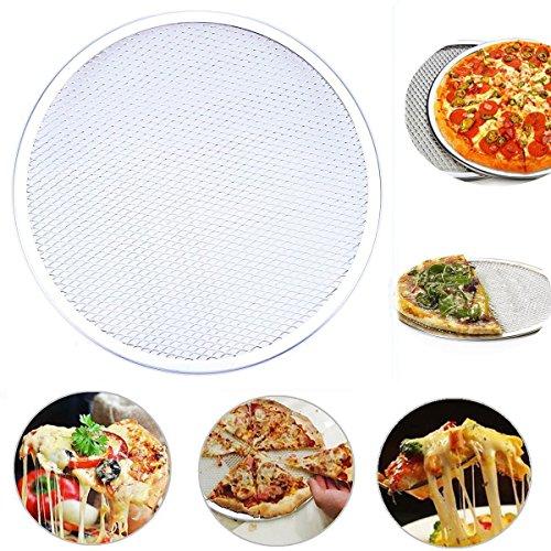 goodchanceuk Seamless Pizza de aluminio protector de bandeja de horno para red de metal para horno ideal para pizzerías, restaurantes y uso doméstico 36 cm