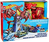 Hot Wheels- Sconfiggi Il Dragone Playset per Macchinine con Lanciatore Mobile, Drago e Tanti Livelli, Include Un Veicolo, DWL04