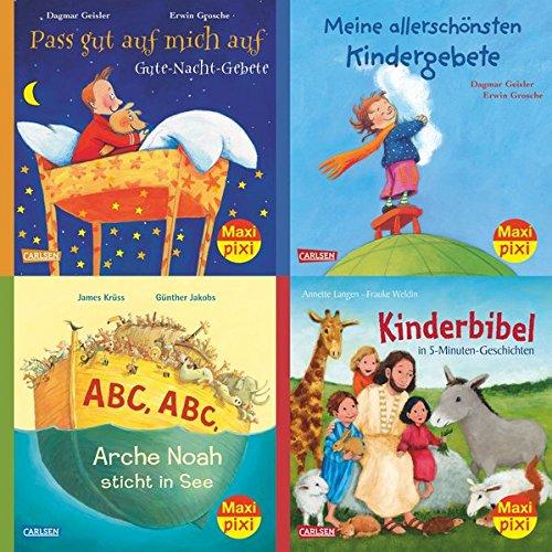 Maxi-Pixi-4er-Set 59: Die schönsten Bibelgeschichten und Gebete für Kinder (4x1 Exemplar)