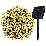InnooTech 200er LED Solar Lichterkette Garten Außen Licht Warmweiß 20M, 8 Modi Dekorative Beleuchtung für Terrasse, Party, Hochzeit, Camping, Weihnachten, Hof usw