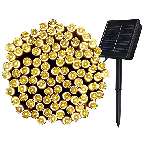 Innoo Tech Chriistmas Outdoor Solar String 200 Led Fairy Lights Warm White Light 8 Mode Decoration Lighting Bulb for Patio,Party,Wedding,Camping,Yard Test
