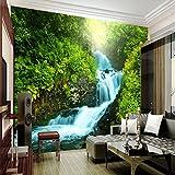 Mbwlkj Benutzerdefinierte Natur Tapete 3D Stereoskopische 3D Foto Wand Wohnzimmer Hintergrund Zimmer Wasserfälle Natur Landschaft 3D Tapete-250cmx175cm