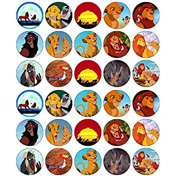 Incredible 30 Lion King Cupcake Toppers Edible Wafer Paper Fairy Cake Toppers Funny Birthday Cards Online Barepcheapnameinfo