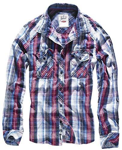 Brandit Central City Check Shirt M (Männer Für Western-hemden Retro)