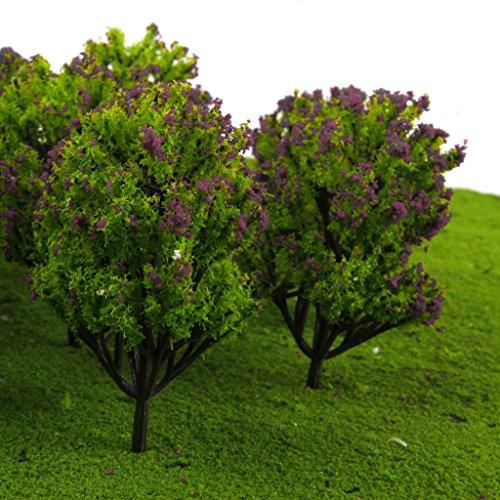 gazechimp-arbres-de-modele-en-plastique-pour-chemin-de-fer-scene-1-100-10pcs-verts-avec-fleur-fuchsi