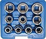 BGS 2434 Steckschlüsseleinsatz-Set 12,5 (1/2), in ZOLL, 10-tlg.