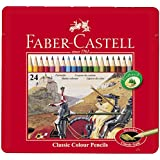 Faber-Castell Classic 24-Colour Pencils in Metal Tin Box