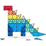 KEBO Starshine Magnetic Tiles. Piezas Magnéticas translúcidas, Colores Brillantes. Bloques construcción para niños, Ideales p